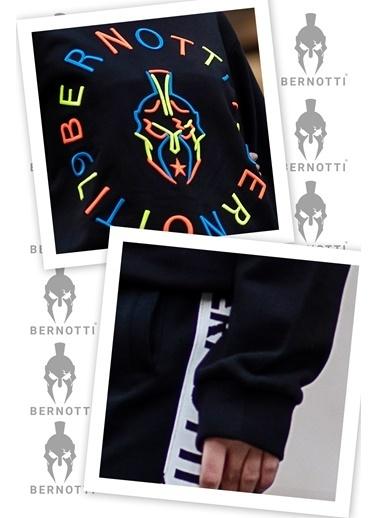 Bernotti 79 Siyah Özel Baskı Detaylı Kadın Sweatshirt Siyah